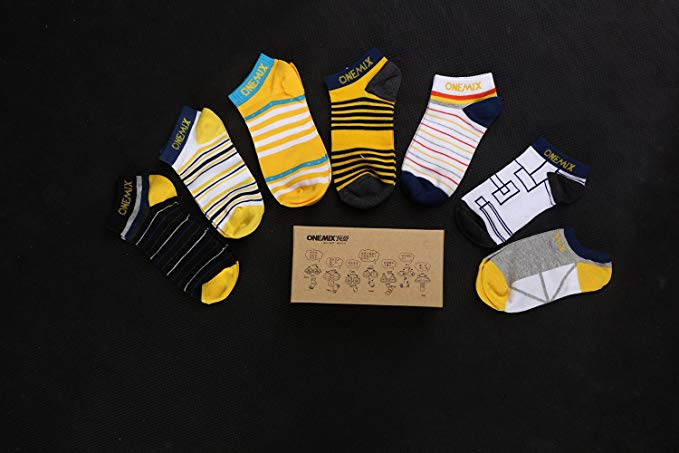 ONEMIX Men's Women's Sports Running Socks 7-pairs Weekly Set