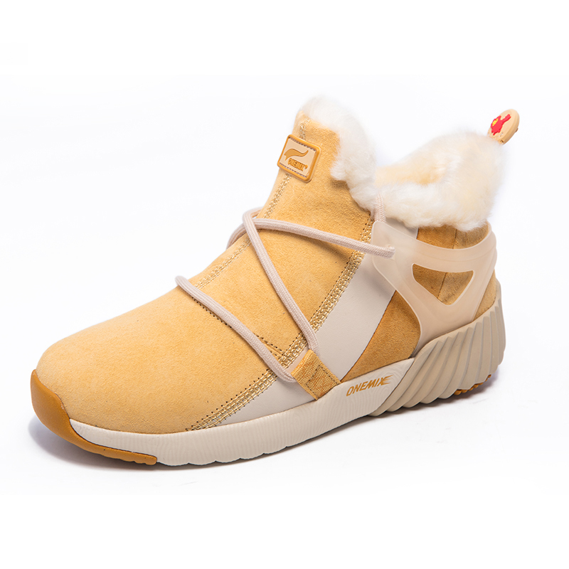 Yellow Warm Boots ONEMIX Winter Snow Women's Shoes
