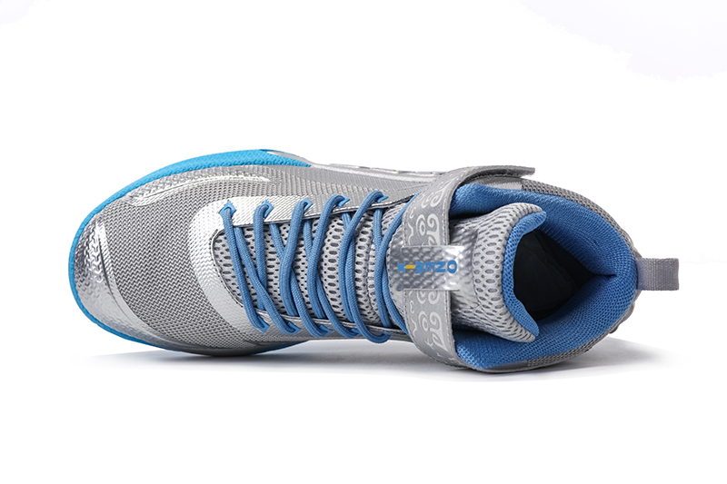 Blue/Silver Warriors ONEMIX Men's Sport Basketball Shoes - Click Image to Close