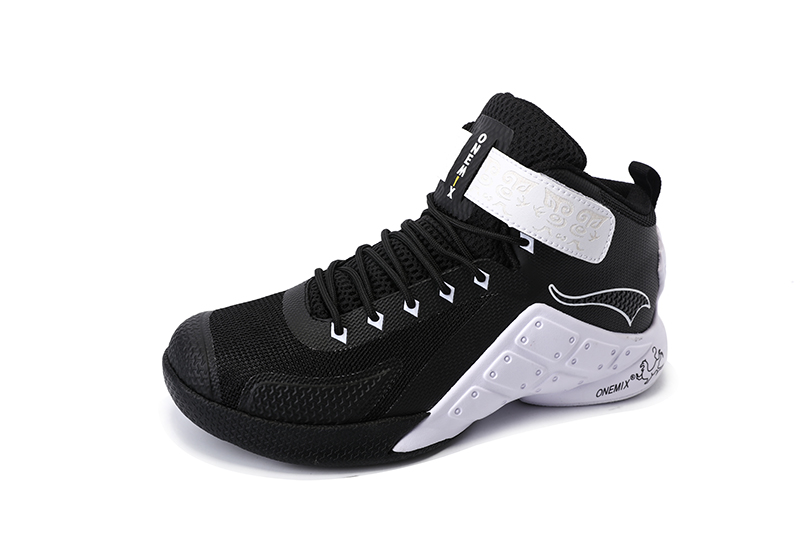 Black/White Warriors ONEMIX Men's Athletic Basketball Shoes