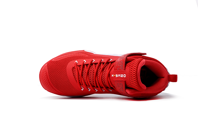 Red/White Warriors ONEMIX Men's Outdoor Basketball Shoes