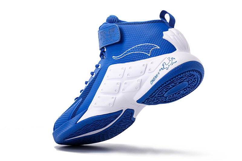 Blue/White Warriors ONEMIX Men's Breathable Basketball Shoes