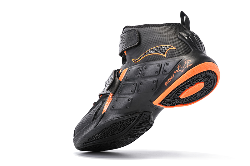 Black/Orange Warriors ONEMIX Men's Athletic Basketball Shoes