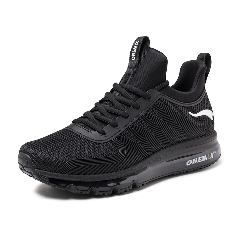 Black Sport Sneakers ONEMIX Tuesday Unisex Air Cushion Shoes