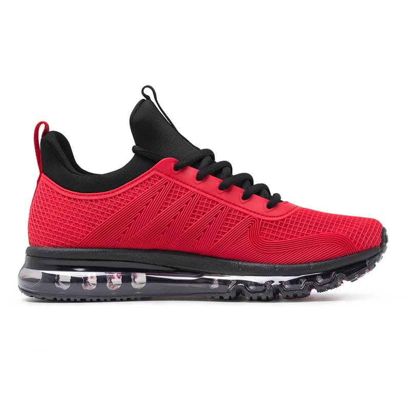 Red Cushioning Sneakers ONEMIX Tuesday Men's Running Shoes - Click Image to Close