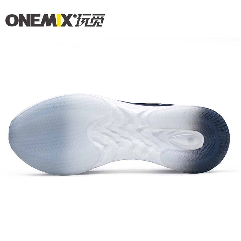 White/Gray Energy Shoes ONEMIX Men's Rebound-58 Outsole Sneakers