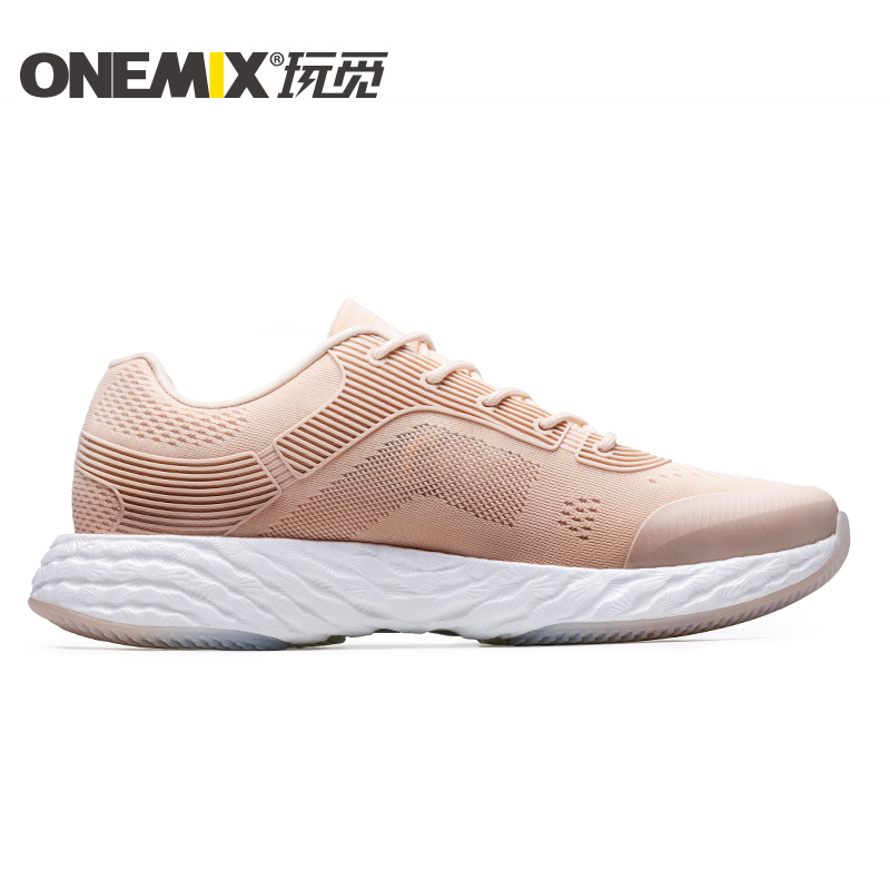 Rose Gold Energy Shoes ONEMIX Unisex Rebound-58 Outsole Sneakers - Click Image to Close