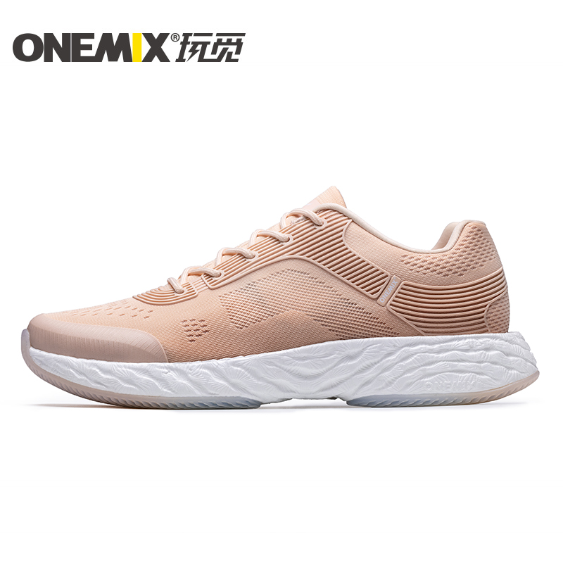 Rose Gold Energy Shoes ONEMIX Unisex Rebound-58 Outsole Sneakers