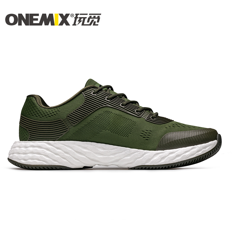 Army Energy Shoes ONEMIX Men's Rebound-58 Outsole Sneakers - Click Image to Close