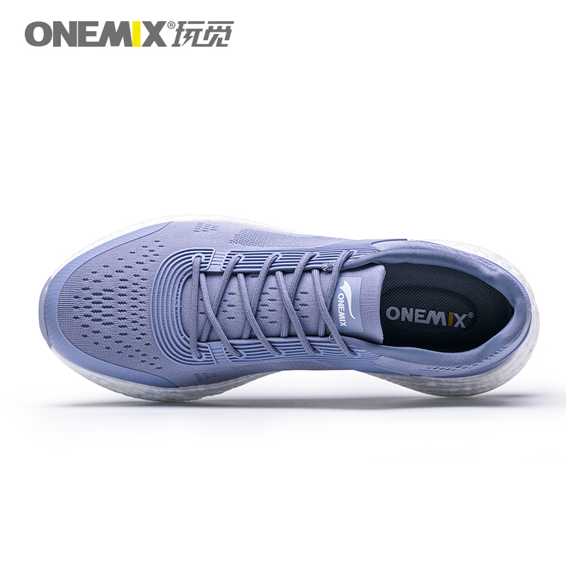 Gray Blue Energy Shoes ONEMIX Men's Rebound-58 Outsole Sneakers