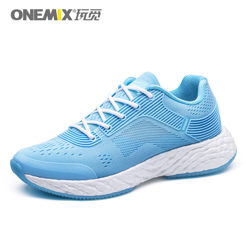 Sky Blue Energy Shoes ONEMIX Women's Rebound-58 Outsole Sneakers