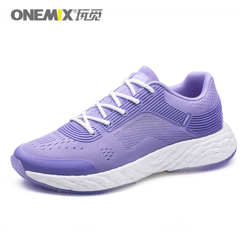 Mauve Energy Shoes ONEMIX Women's Rebound-58 Outsole Sneakers