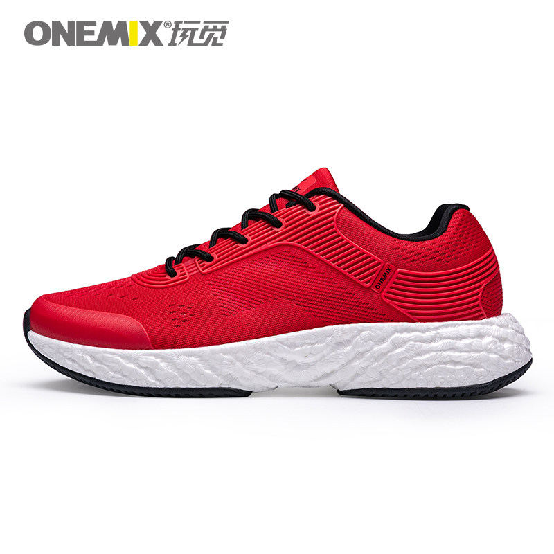 Red Energy Shoes ONEMIX Men's Rebound-58 Outsole Sneakers - Click Image to Close