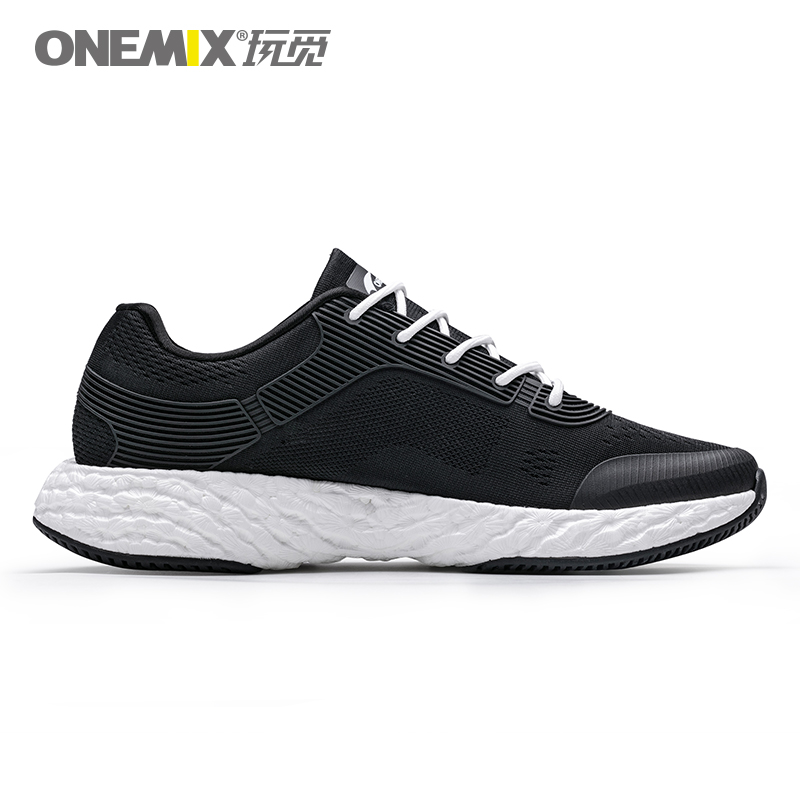 Black/White Energy Shoes ONEMIX Unisex Rebound-58 Outsole Sneakers