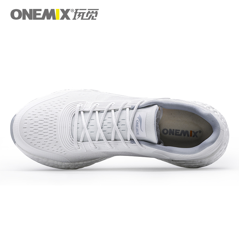 White Energy Shoes ONEMIX Unisex Rebound-58 Outsole Sneakers