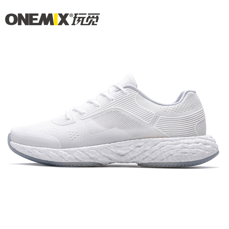 White Energy Shoes ONEMIX Unisex Rebound-58 Outsole Sneakers - Click Image to Close
