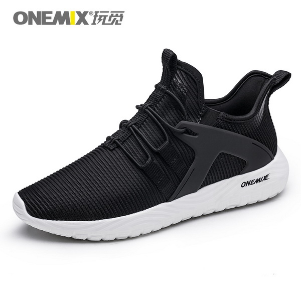 Black/White Super Light Sneakers ONEMIX Men's Jogging Shoes