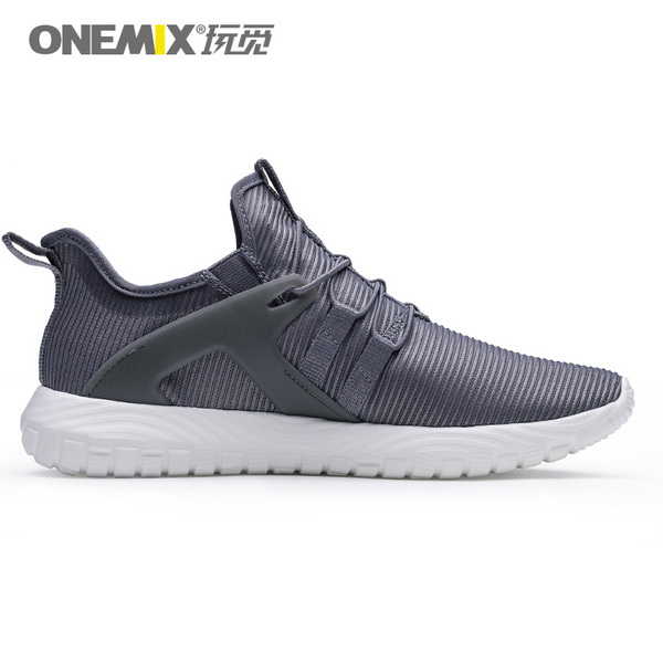 Dark Gray Soft Outsole Sneakers ONEMIX Men's Jogging Shoes - Click Image to Close