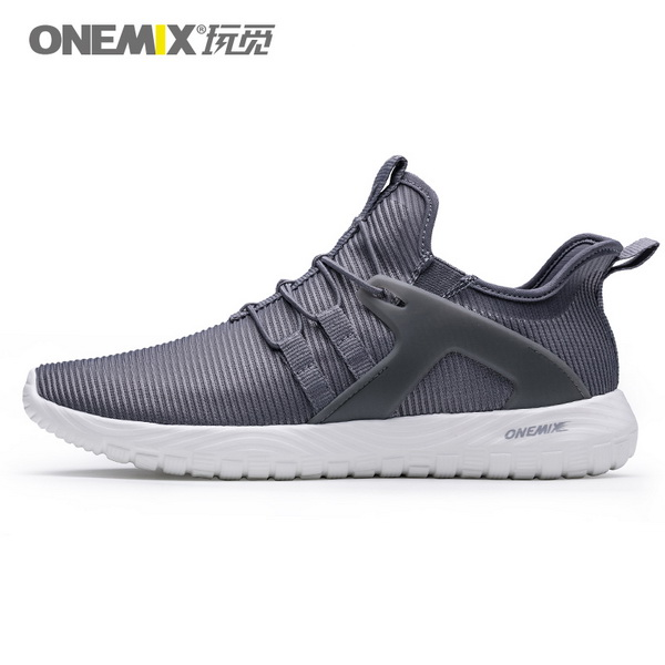 Dark Gray Soft Outsole Sneakers ONEMIX Men's Jogging Shoes