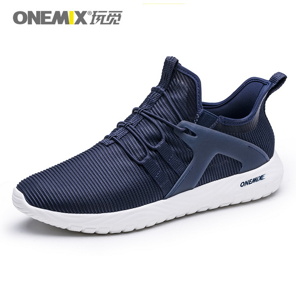 Dark Blue High Elastic Sneakers ONEMIX Men's Jogging Shoes