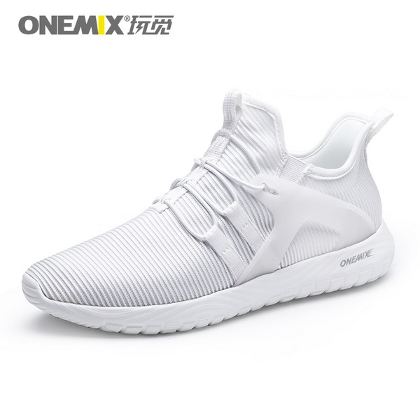 White Soft Outsole Sneakers ONEMIX Unisex Jogging Shoes