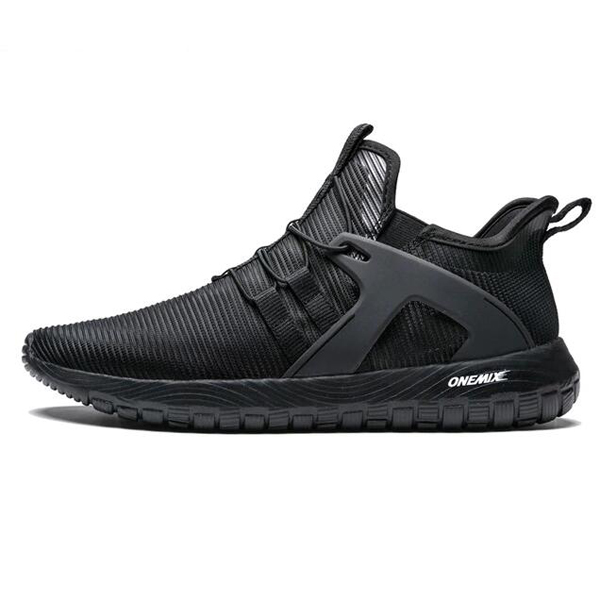 Full Black Super Light Sneakers ONEMIX Men's Jogging Shoes