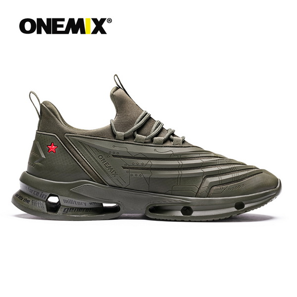 Army Green Fighter Shoes ONEMIX Men's Anti-skid Sneakers - Click Image to Close
