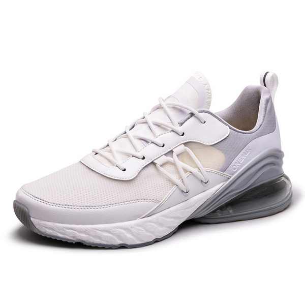 White/Gray Walking Shoes ONEMIX Couple Outdoor Sneakers