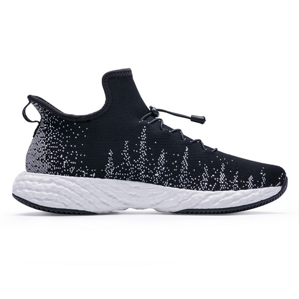 Black/White Knitted Vamp Shoes ONEMIX Men's Casual Sneakers