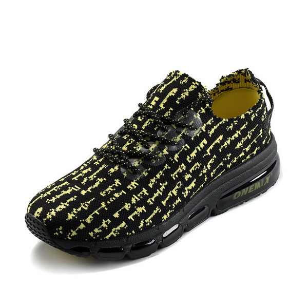 Black/Yellow Breathable Sneakers ONEMIX Men's Retro Shoes