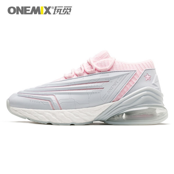 Silver/Pink Saturday Sneakers ONEMIX Leather Women's Fighter Shoes