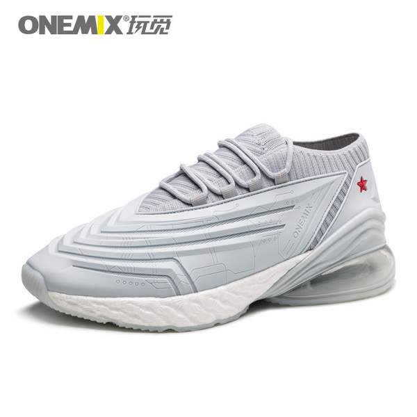Silver/Gray Saturday Shoes ONEMIX Running Men's Fighter Sneakers