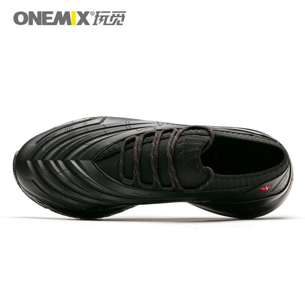 All Black Saturday Men's Sneakers ONEMIX Women's Fighter Shoes - Click Image to Close