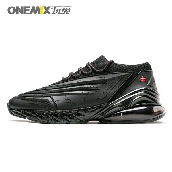 All Black Saturday Men's Sneakers ONEMIX Women's Fighter Shoes