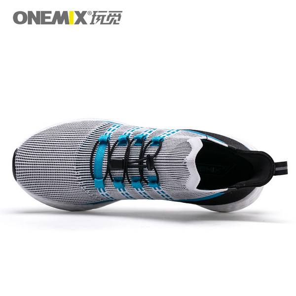 Black Blue Sunday Sneakers ONEMIX Running Men's Shoes - Click Image to Close