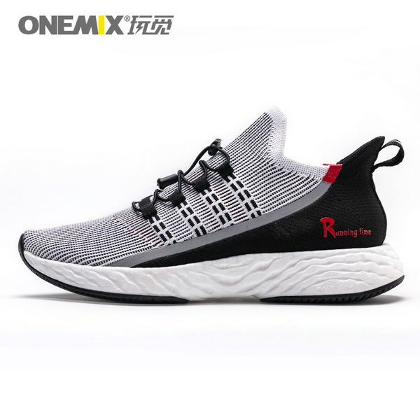 Black Red Sunday Women's Shoes ONEMIX Men's Outdoor Sneakers - Click Image to Close