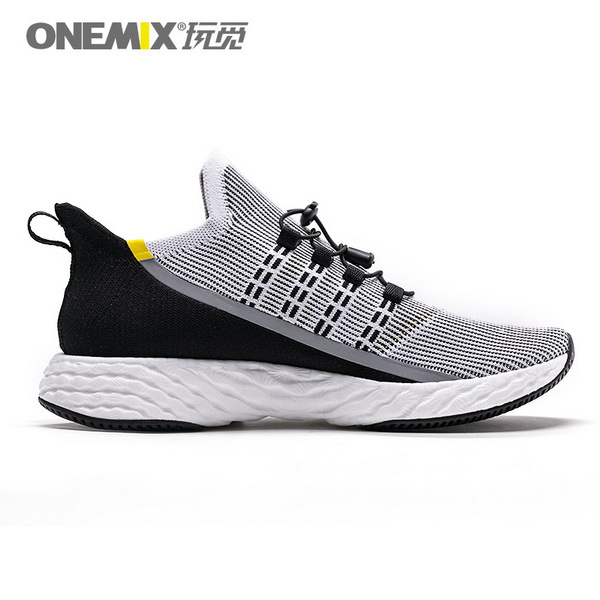 Black Yellow Sunday Shoes ONEMIX Men's Breathable Sneakers
