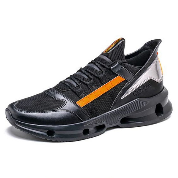 Black Orange Vintage Sneakers ONEMIX Men's Tennis Shoes