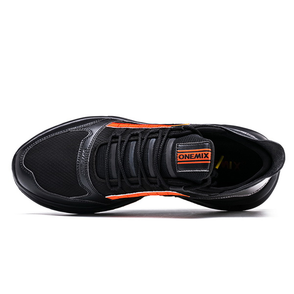 Black Orange Vintage Sneakers ONEMIX Men's Tennis Shoes - Click Image to Close