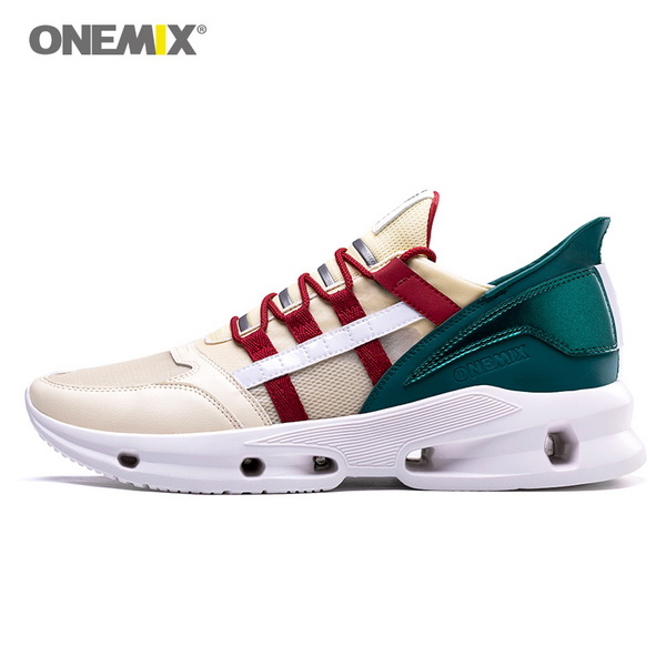 Beige Green Vintage Men's Shoes ONEMIX Casual Women's Sneakers - Click Image to Close