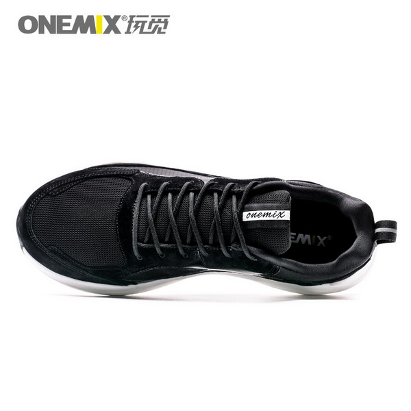 Black Classic Men's Shoes ONEMIX Breathable Women's Sneakers