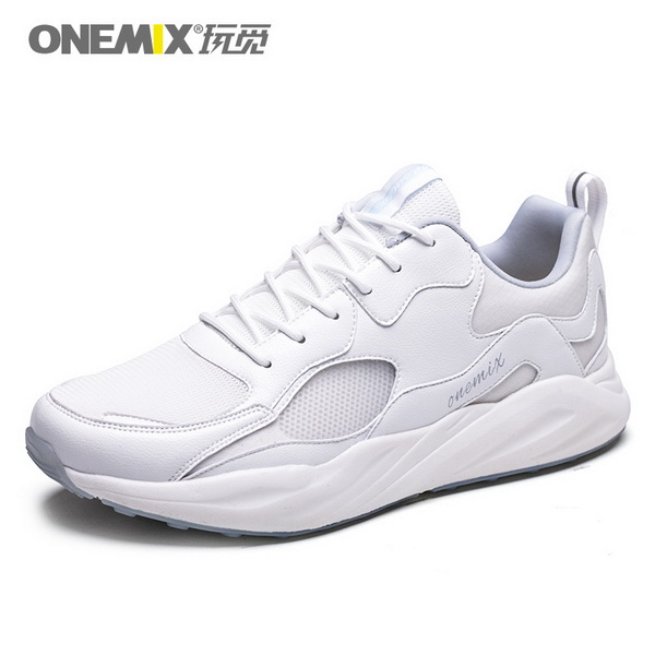 All White Classic Women's Sneakers ONEMIX Men's Lightweight Shoes