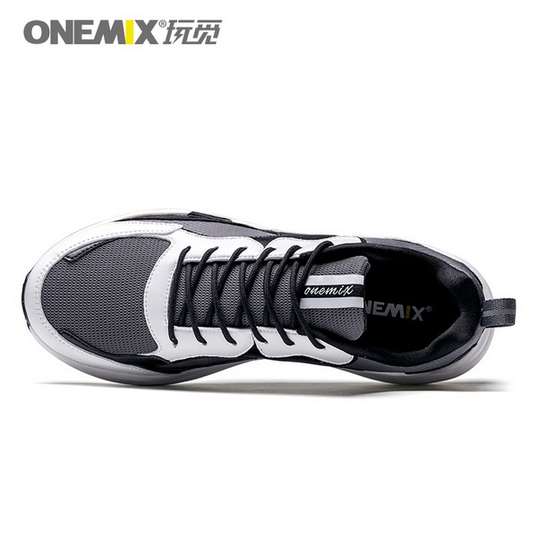 Black White Classic Casual Dad Shoes ONEMIX Men's Sneakers