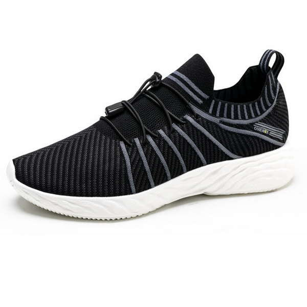 Black/White Summer Shoes ONEMIX Vulcanized Men's 350 Sneakers - Click Image to Close