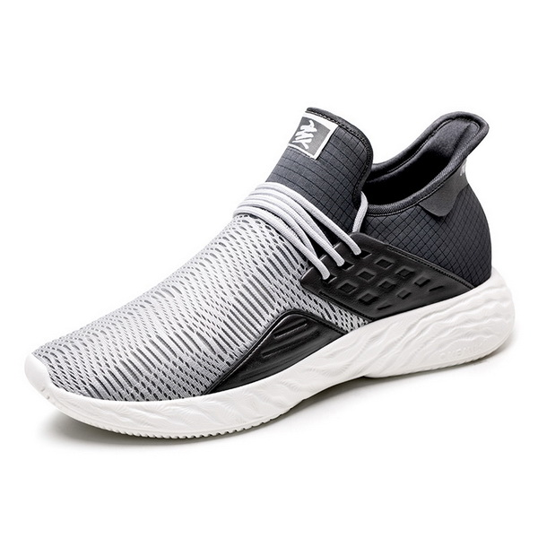 Gray Black Autumn Sneakers ONEMIX Lightweight Men's 360 Shoes - Click Image to Close