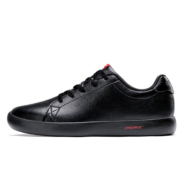 Full Black Casual Men's Shoes ONEMIX Women's College Style Sneakers - Click Image to Close