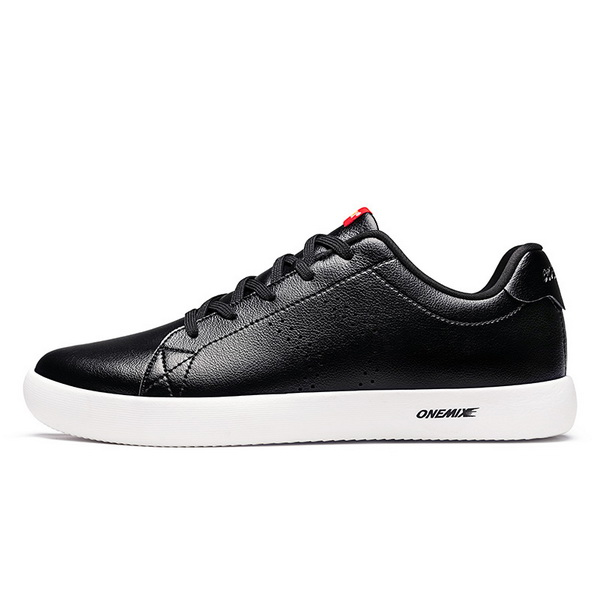 Black White Flats Women's Sneakers ONEMIX Men's College Style Shoes
