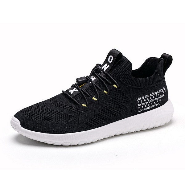 Black/White Simple Men's Sneakers ONEMIX Women's Jogging Shoes