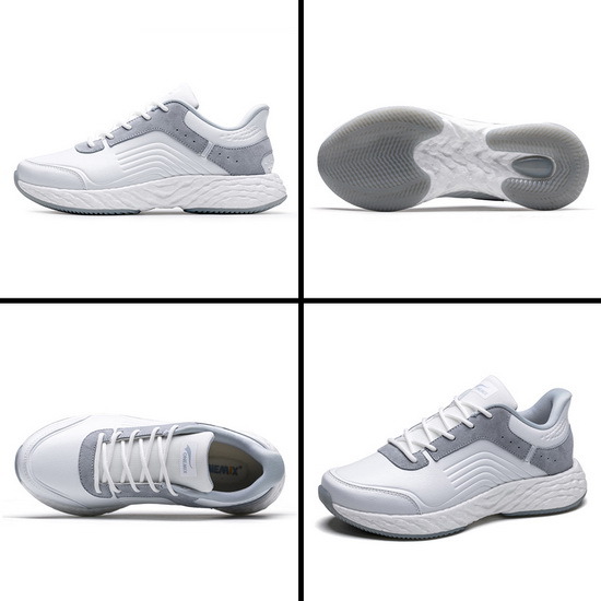 White/Gray Earth Men's Sneakers ONEMIX Women's Leather Shoes
