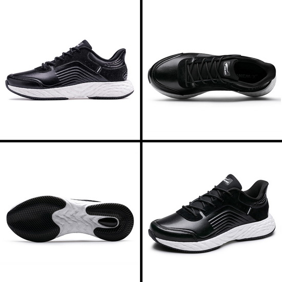 Black/White Earth Women's Shoes ONEMIX Men's Leather Sneakers